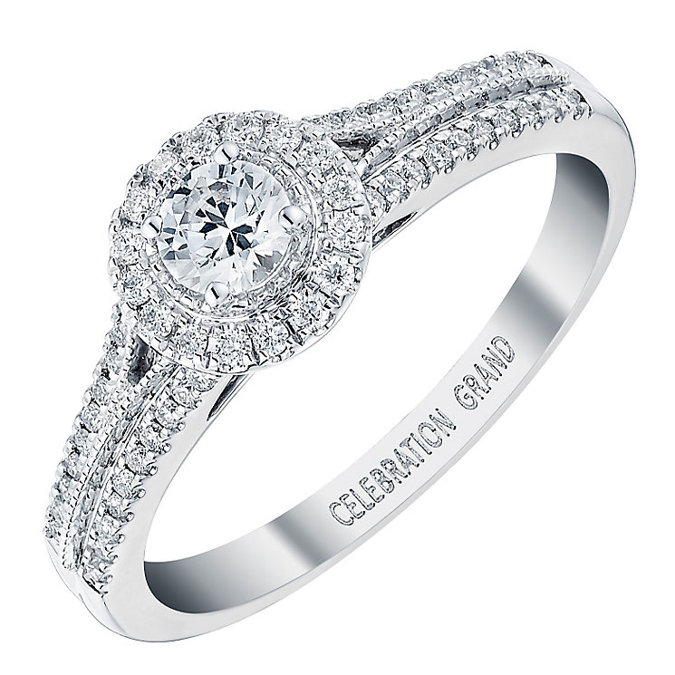 Celebration Grand 18ct White Gold 0.40 Carat Diamond Ring - Product number 3773213