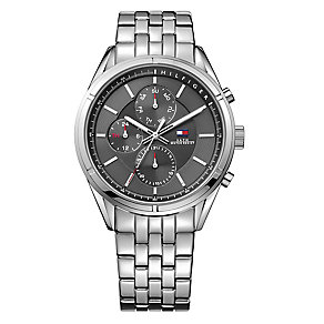 Tommy Hilfiger Gent's' Black Dial Stainless Steel Watch - Product number 3773663