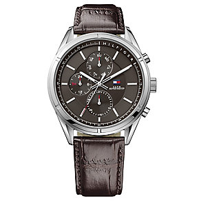 Tommy Hilfiger Gent's'  Watch with Brown Leather Strap - Product number 3773698
