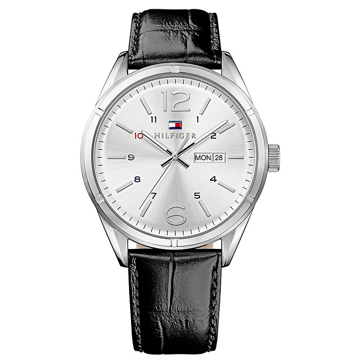 Tommy Hilfiger Gent's' Black Leather Strap Watch - Product number 3773981