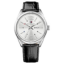 Tommy Hilfiger Men's Black Leather Strap Watch - Product number 3773981