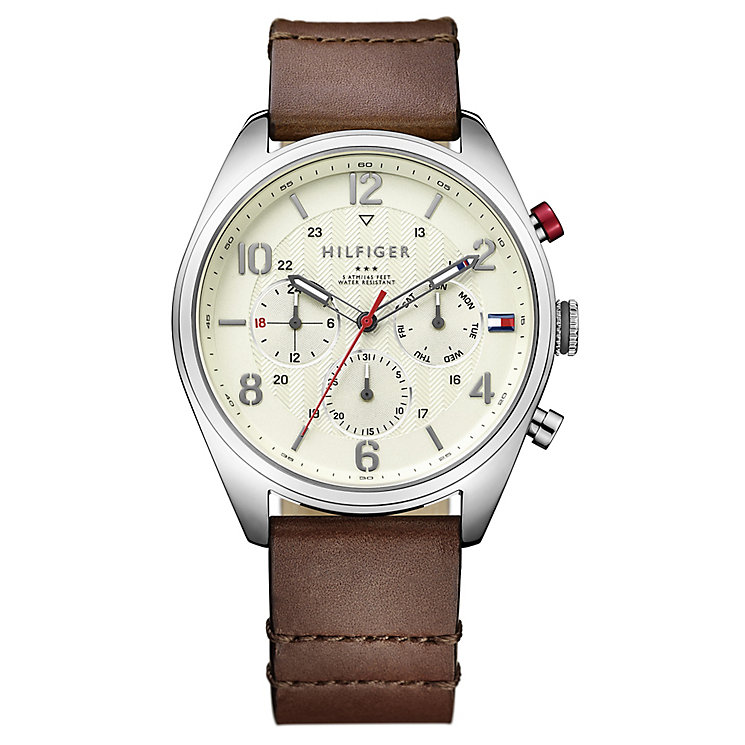 Tommy Hilfiger Gent's'  White Dial Pilot Watch - Product number 3774023