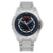Boss Orange Men's Blue Dial Stainless Steel Bracelet Watch - Product number 3774430