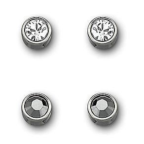 Swarovski Harley jet haematite & clear crystal earring set - Product number 3776662