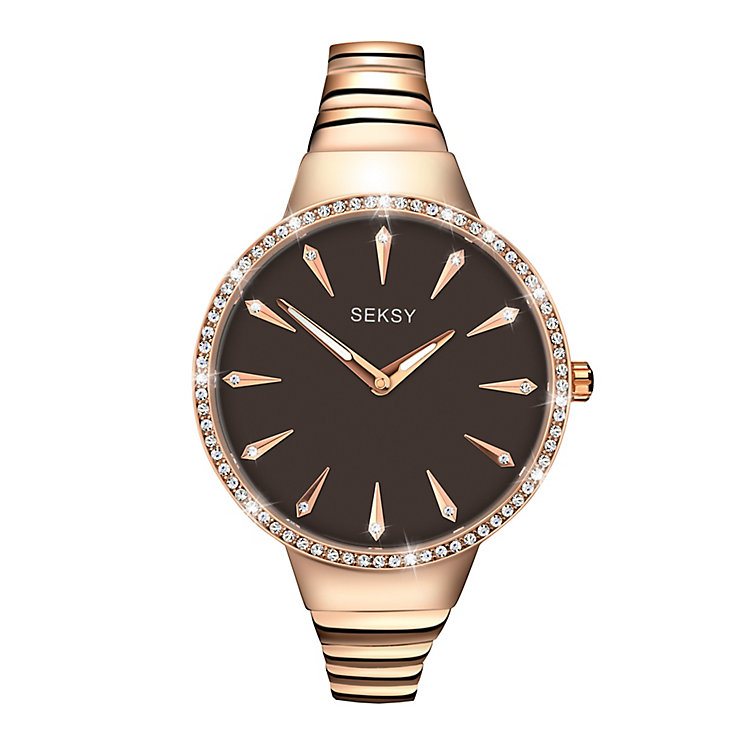 Seksy Ladies' Rose Gold-Plated Bracelet Watch - Product number 3776743
