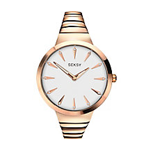 Seksy Ladies' Rose Gold-Plated Bracelet Watch - Product number 3776891
