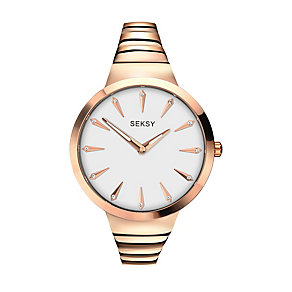 Sekonda Seksy Ladies' Rose Gold-Plated Bracelet Watch - Product number 3776891
