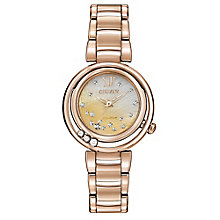 Citizen Eco-Drive Ladies' Rose Gold-Plated Bracelet Watch - Product number 3777464