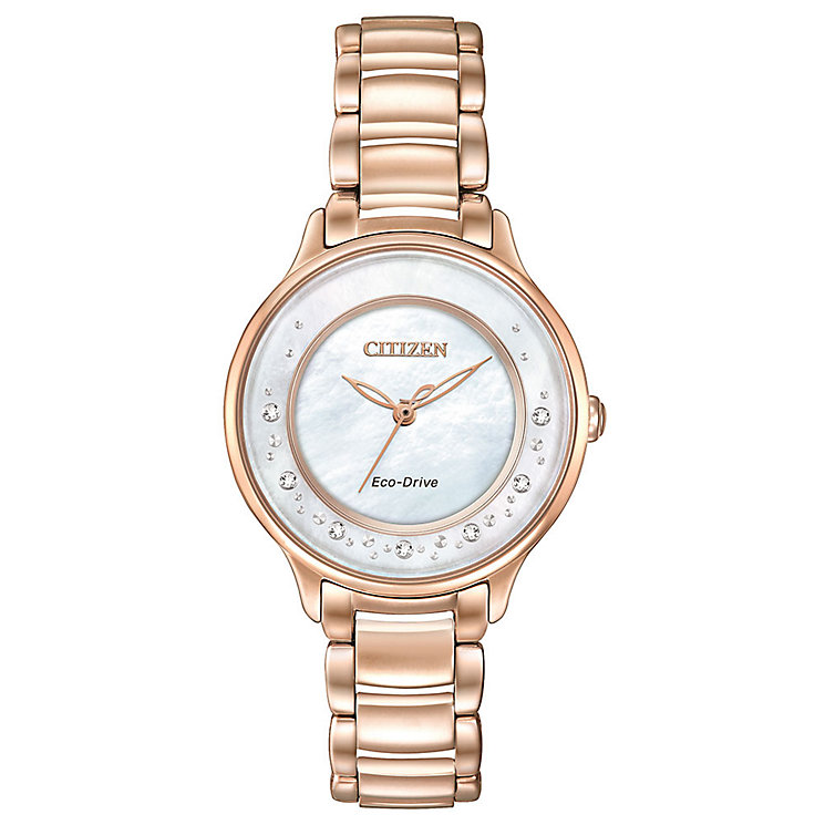 Citizen Eco-Drive Ladies' Rose Gold-Plated Bracelet Watch - Product number 3777480