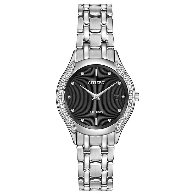 Citizen Eco-Drive Ladies' Stainless Steel Bracelet Watch - Product number 3777553
