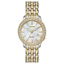 Citizen Eco-Drive Ladies' Diamond Two Colour Bracelet Watch - Product number 3777626