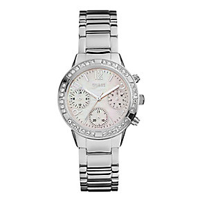 Guess Ladies' Mother of Pearl Bracelet Watch - Product number 3778592