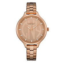 Caravelle New York Ladies' Rose Gold-Plated Bracelet Watch - Product number 3779920