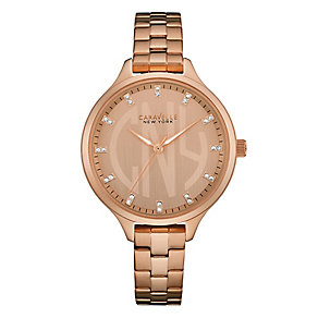 Caravelle New York Ladies' Gold-Plated Bracelet Watch - Product number 3779920