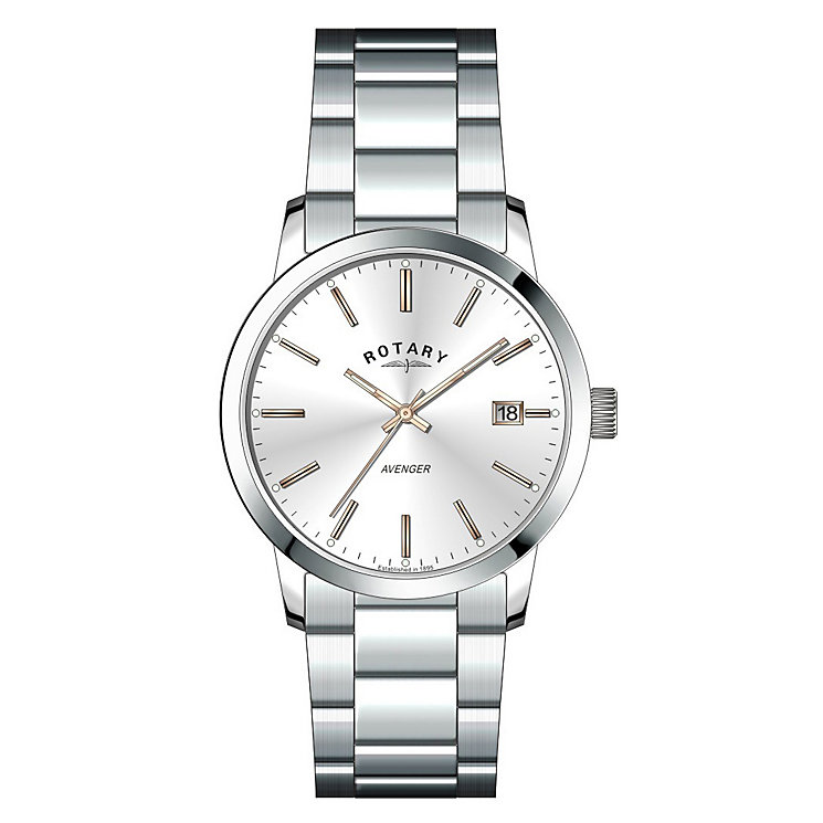 Rotary Ladies' Silver Dial & Stainless Steel Bracelet Watch - Product number 3780317