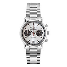 Rotary Men's Silver Dial & Stainless Steel Bracelet Watch - Product number 3780333