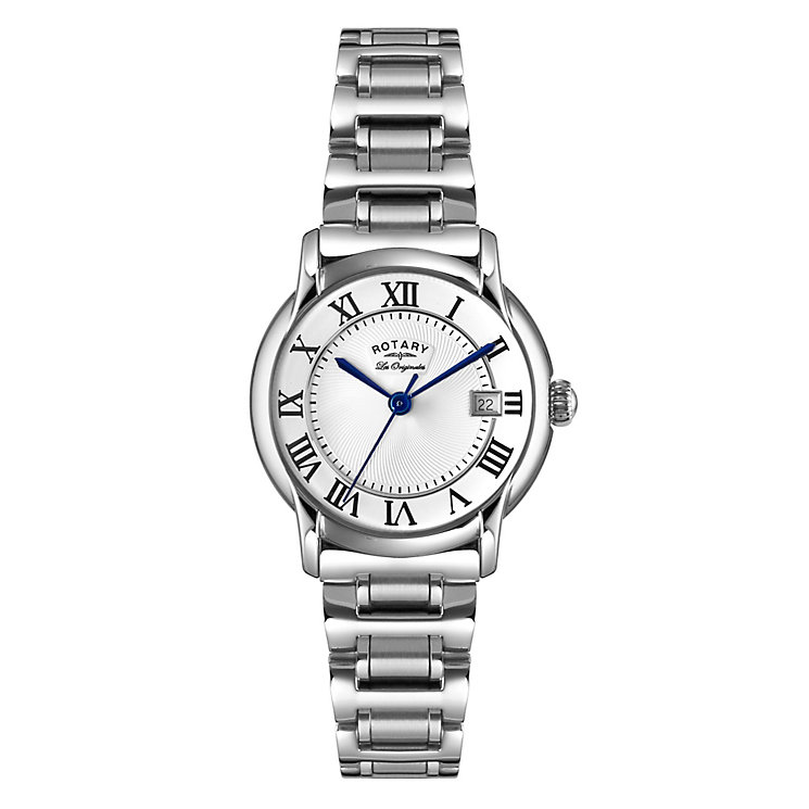 Rotary Ladies' Silver Dial Stainless Steel Bracelet Watch - Product number 3780376