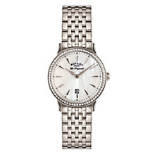 Rotary Ladies' White Mother of Pearl Bracelet Watch - Product number 3780457