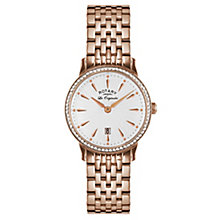 Rotary Ladies' Rose Gold Stainless Steel Bracelet Watch - Product number 3780465