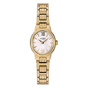 Rotary Ladies' Gold Plated Stainless Steel Bracelet Watch - Product number 3780473