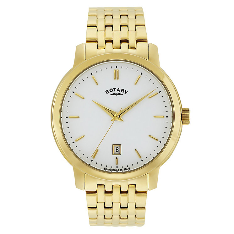 Rotary Men's Gold Plated Stainless Steel Bracelet Watch - Product number 3780481