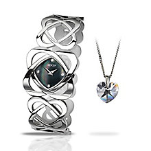 Seksy Ladies' Steel Bracelet Watch & Pendant Set - Product number 3782182