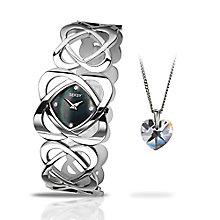 Seksy Ladies' Steel Bracelet Watch & Pendant Set - Product number 3782182