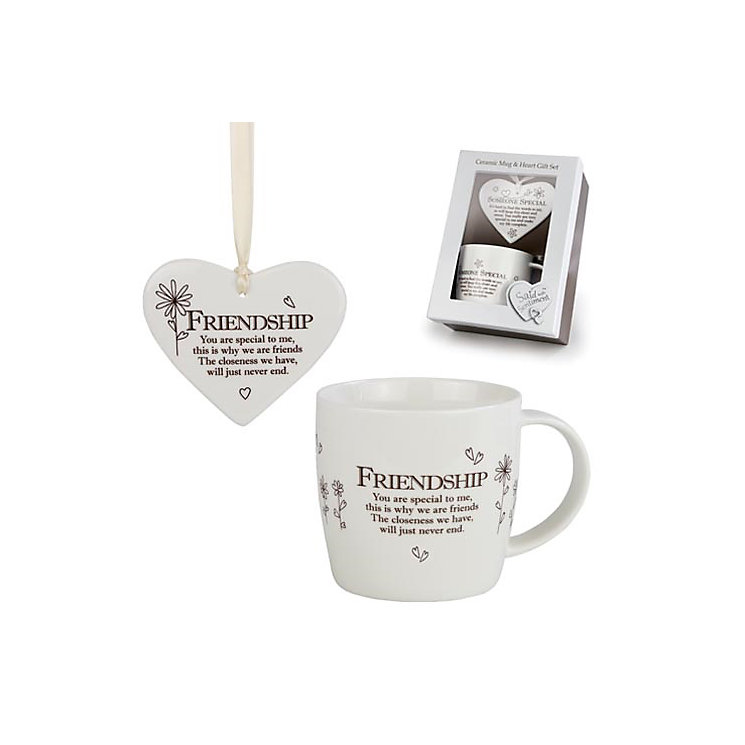 Friendship Ceramic Mug & Hanging Heart Gift Set - Product number 3782913