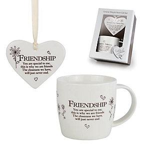 Friendship Ceramic Mug & Hanging Heart Gift Set - Product number 3782913
