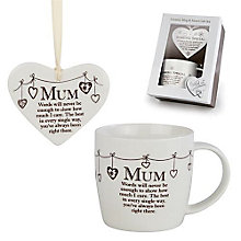 Mum Ceramic Mug & Hanging Heart Gift Set - Product number 3782921