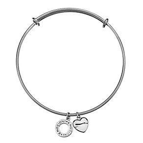 Emozioni silver-plated and stainless steel bangle - Product number 3783065