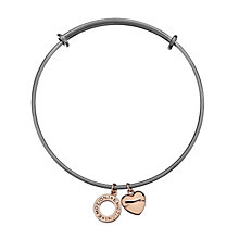 Emozioni stainless steel and silver-plated bangle - Product number 3783081