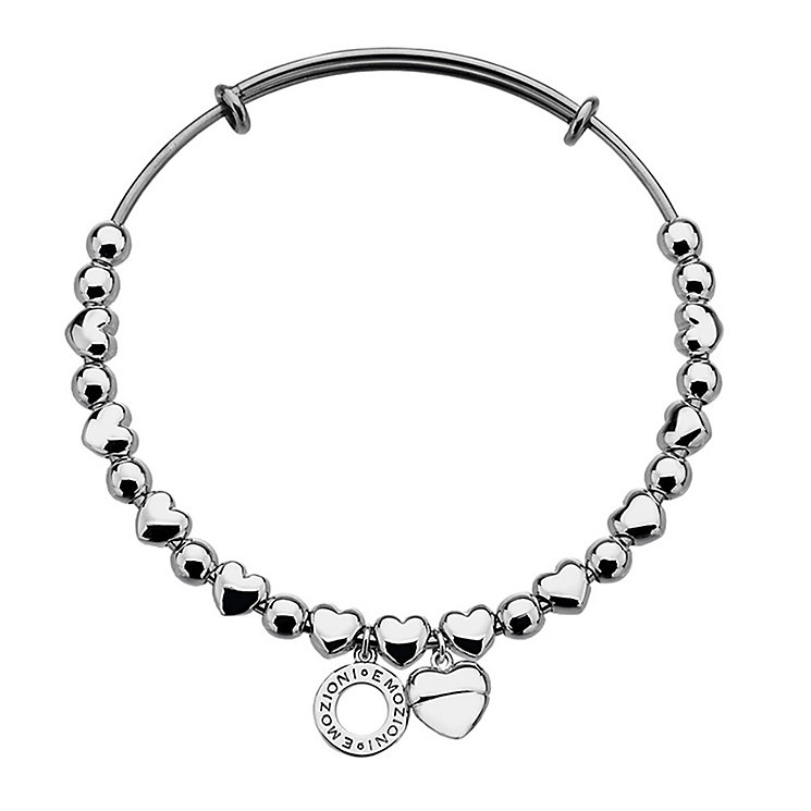 Emozioni stainless steel and silver-plated bangle - Product number 3783111