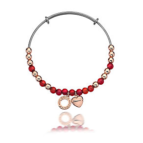 Emozioni stainless steel and red glass bangle - Product number 3783200