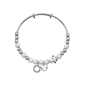 Emozioni synthetic mother of pearl & stainless steel bangle - Product number 3783243