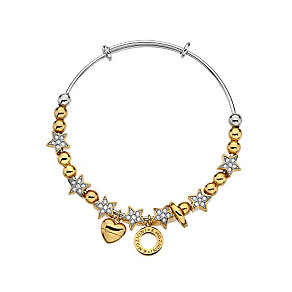 Emozioni gold-plated cubic zirconia star bangle - Product number 3783588