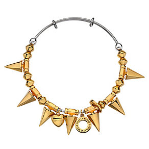 Emozioni stainless steel spike bangle - Product number 3783987