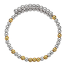 Emozioni silver and gold-plated wrap bangle - Product number 3784339