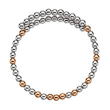 Emozioni silver and rose gold-plated wrap bangle - Product number 3784347