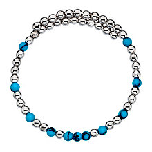 Emozioni silver-plated & synthetic turquoise wrap bangle - Product number 3784355