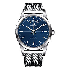 Breitling Men's Stainless Steel Blue Bracelet Watch - Product number 3787303