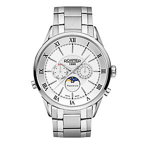 Roamer Men's Stainless Steel Chrome Bracelet Watch - Product number 3788105