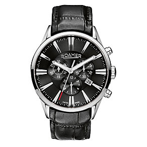 Roamer Men's Stainless Steel Black Strap Watch - Product number 3788253