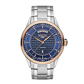 Roamer Men's Two Colour Blue Bracelet Watch - Product number 3788261