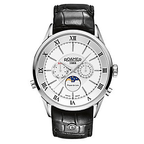 Roamer Men's Stainless Steel Black Strap Watch - Product number 3788288