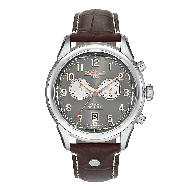 Roamer Men's Stainless Steel Grey Chronograph Strap Watch - Product number 3788342