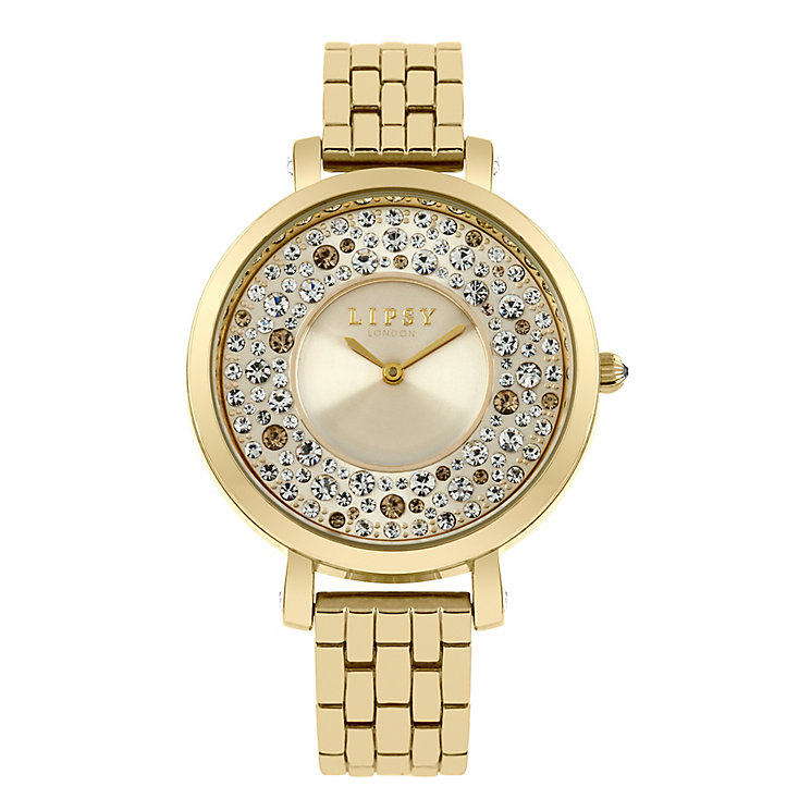 Lipsy Ladies' Gold-Plated Stone Set Bracelet Watch - Product number 3789977