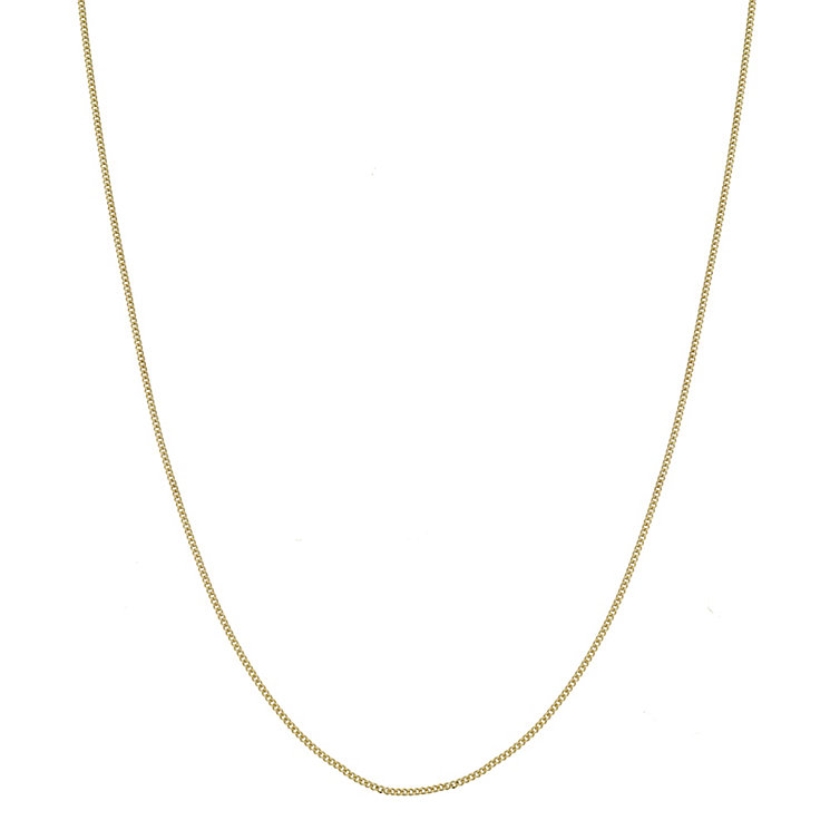 "9ct Yellow Gold 18"" Curb Chain - Product number 3791114"