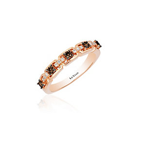 14ct Strawberry Gold Vanilla Gold & Chocolate Diamond Ring - Product number 3792226