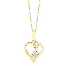 9ct Gold Cubic Zirconia Set Heart Pendant - Product number 3793958